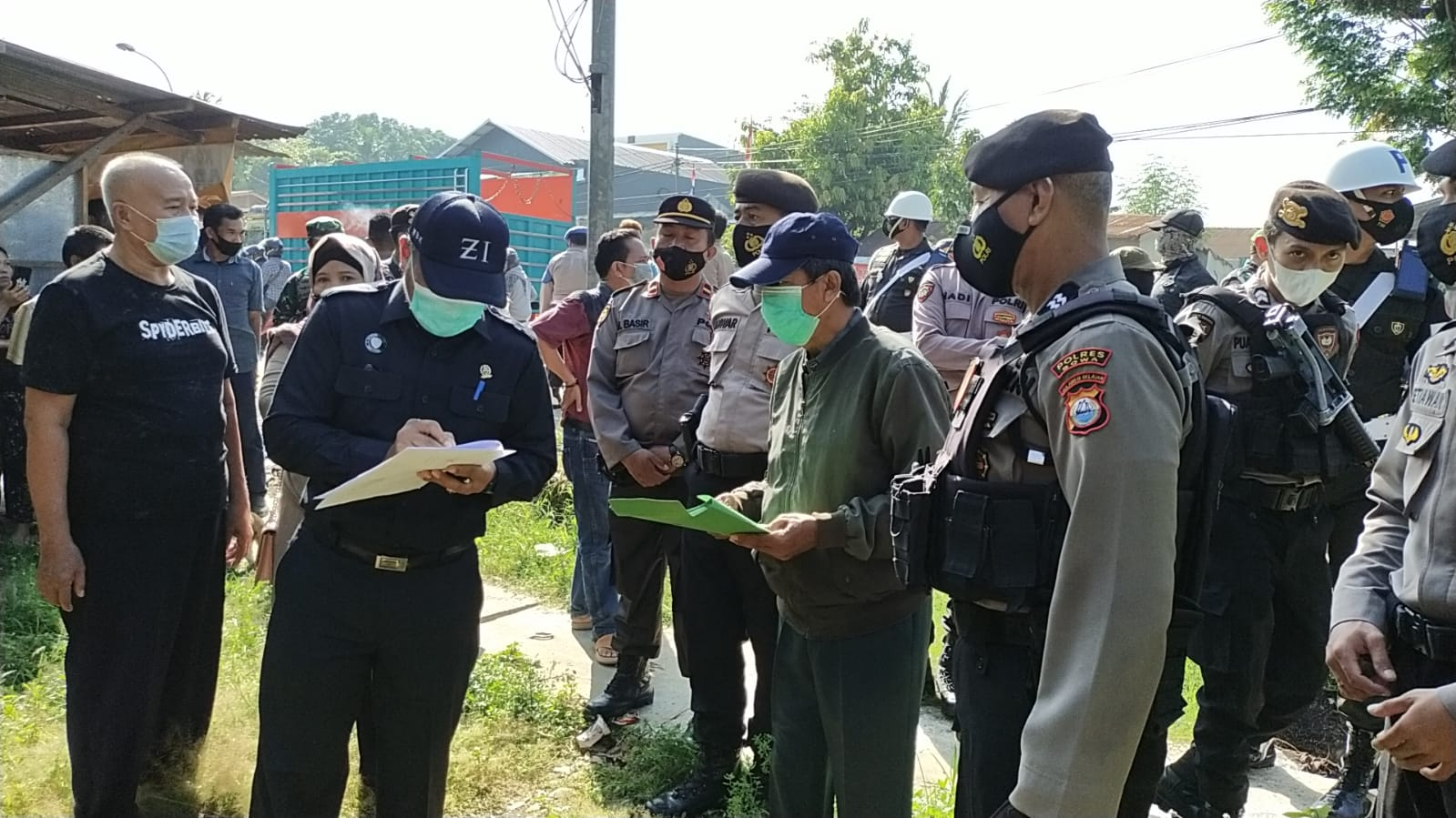 Polres Gowa Gelar Pengamanan Eksekusi Lahan di Empat Titik