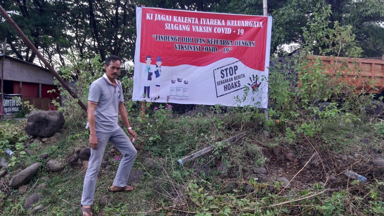 Kampanye dan Sosialisasi Vaksinasi Personil Polsek Manuju Polres Gowa
